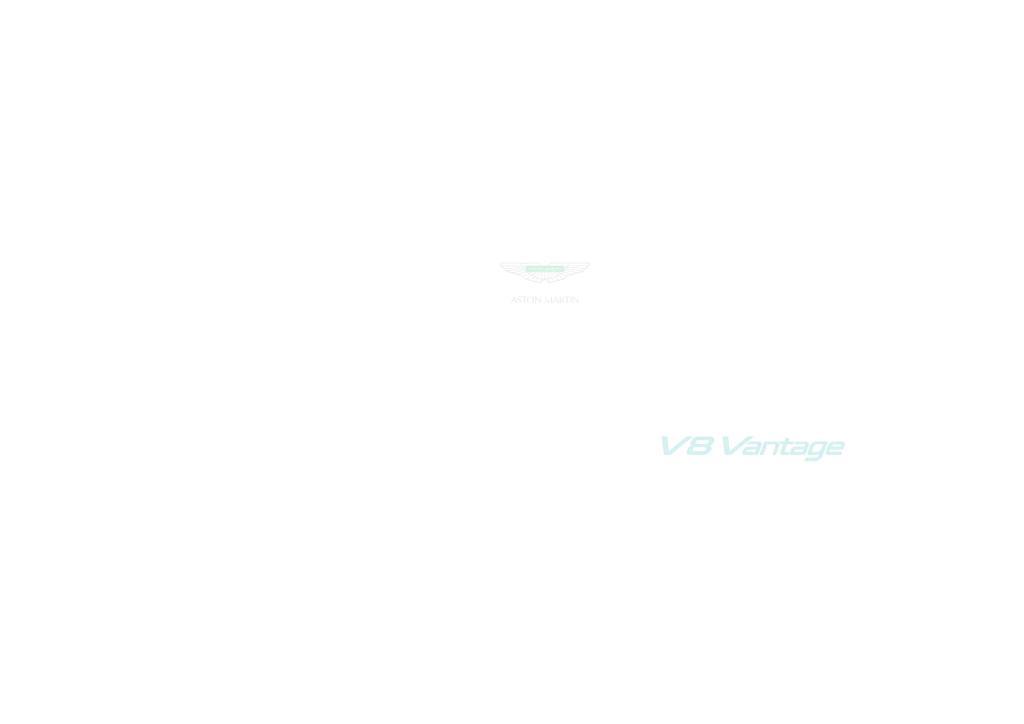 V8 Vantage Owners Manual 2012 Issue 12 Pdf 3 77 Mb Manualy Uzivatelske Anglicky En